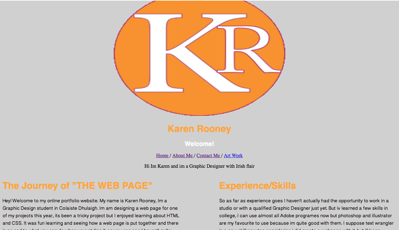 So after we designed the web page on photoshop we had to actually build the web page with HTML and CSS, I was excited at the start but it turned out to be a lot trickier than I thought, as you can see my photoshop webpage looks completly different to my HTML webpage.