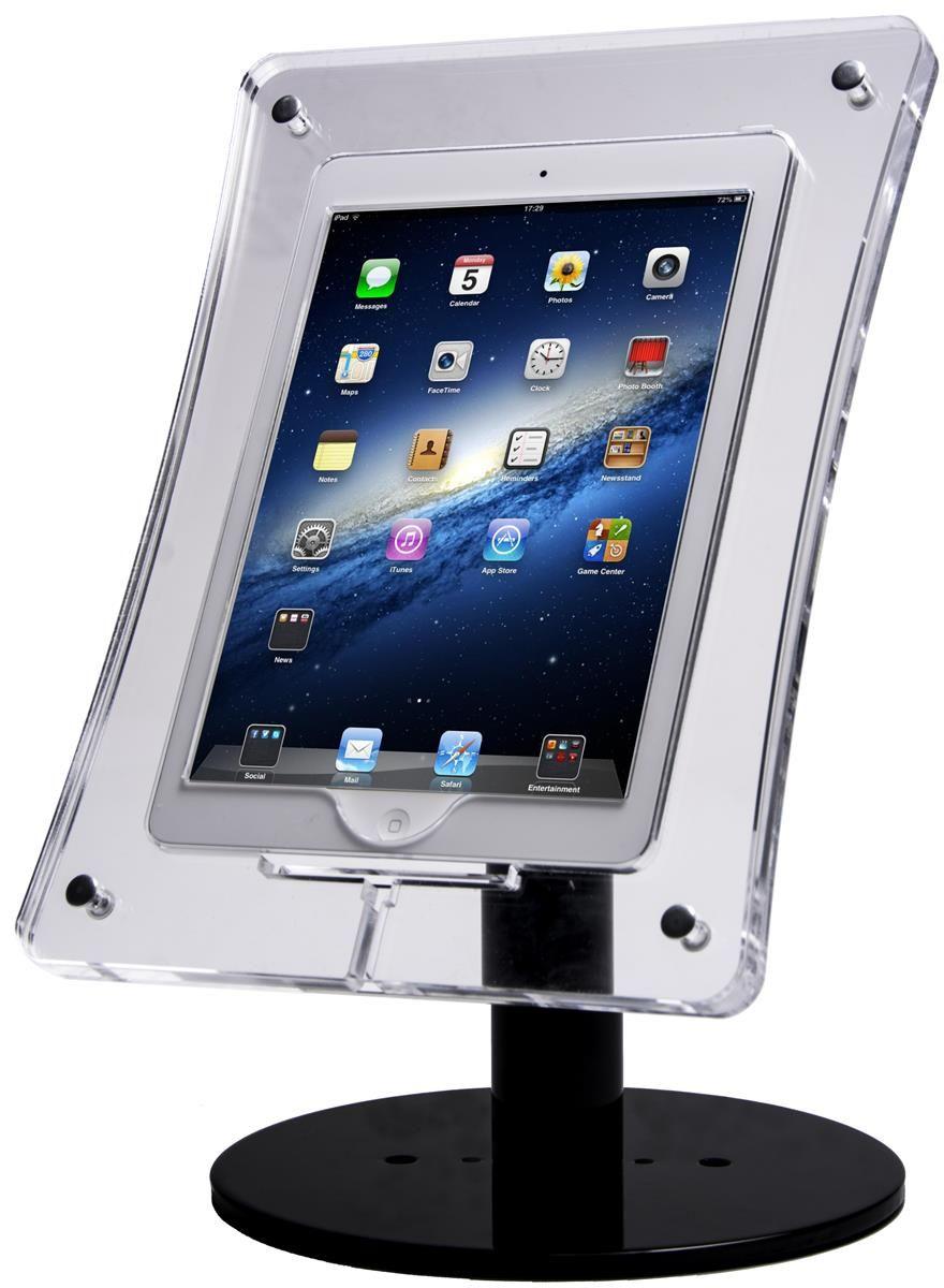 Ipad Air Countertop Stand W X2f Acrylic Enclosure Rotating Amp Tilting Bracket Black Screen Stands Computer Screen Stand Wooden Screen Door