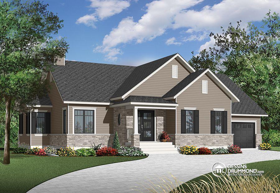 Détail du plan de Maison unifamiliale W3133-V1 plan maison