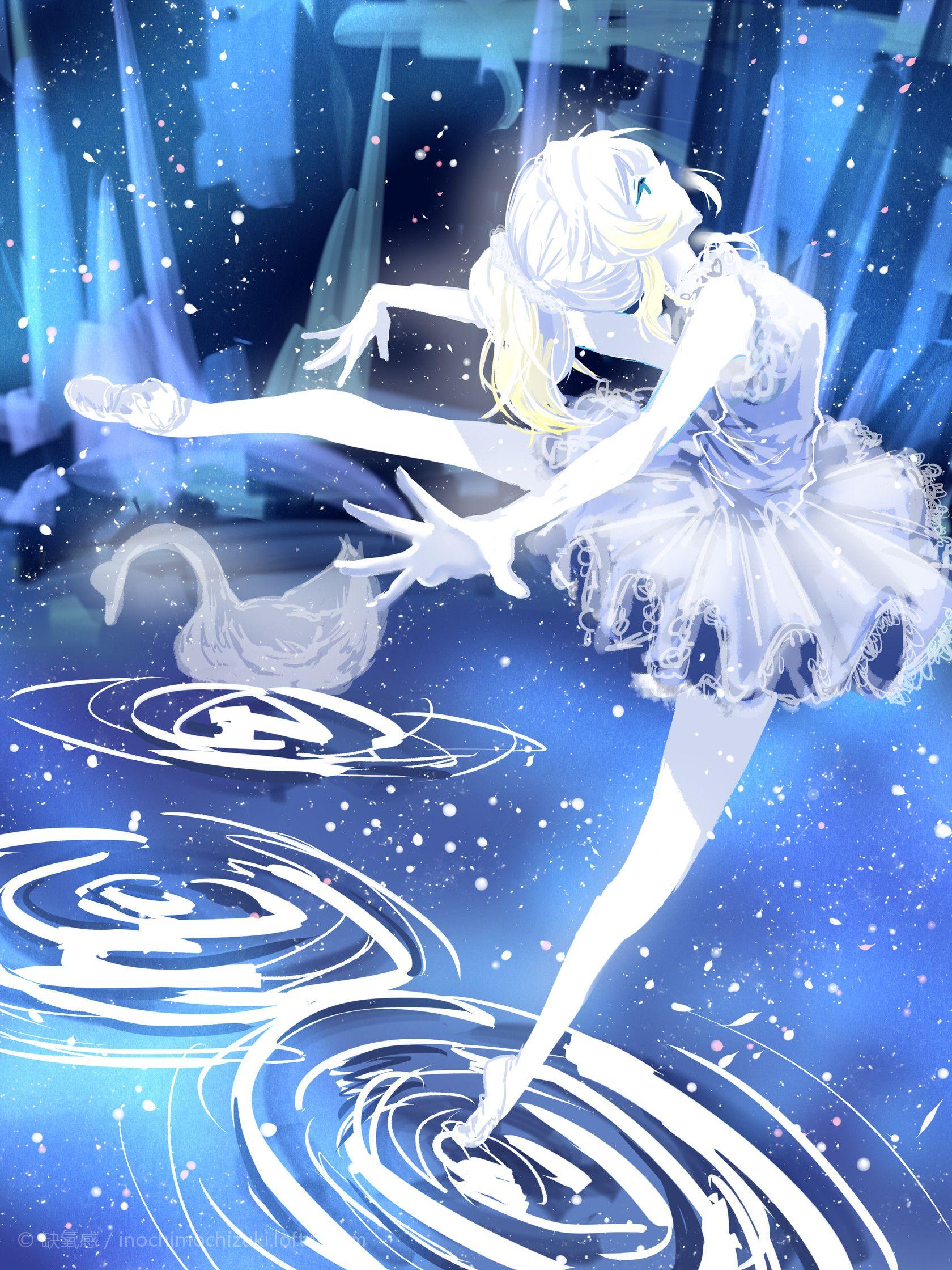 Картинки аниме девушки балерины