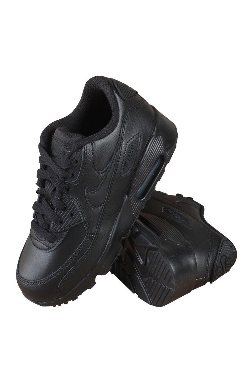 833414-001 Nike Air Max 90 Leather Shoes Preschool