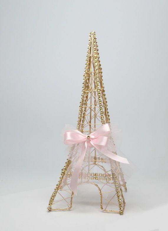 Gold Wire Eiffel Tower Centerpiece/Paris Centerpiece/Wedding