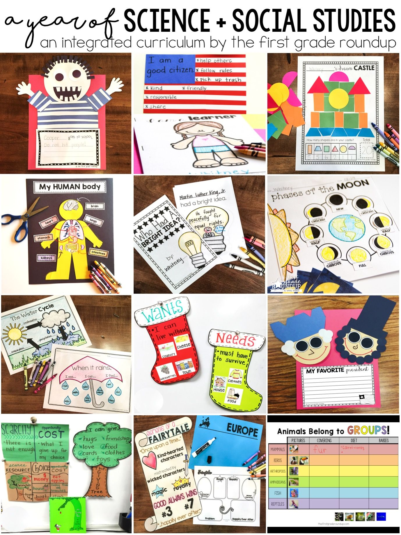 Science And Social Stu S Units For First Grade Bundle
