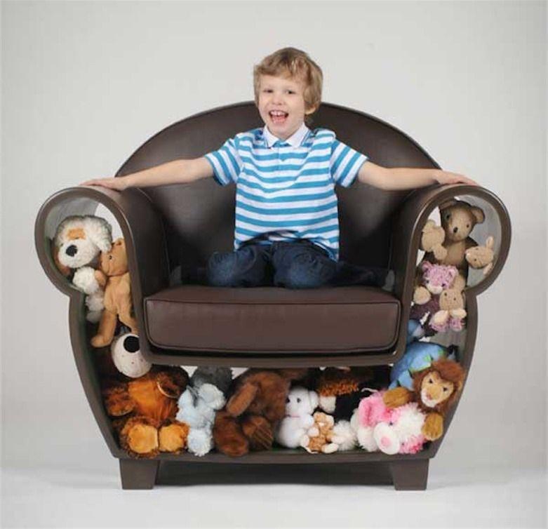 fotel z dopełniaczem zabawkowym
