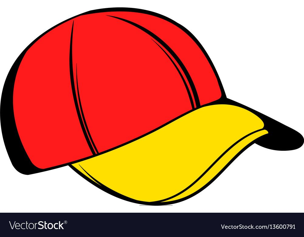 Baseball Cap Icon Icon Cartoon Vector Image On Vectorstock Cartoon Styles Cartoons Vector Photo Booth Props Free