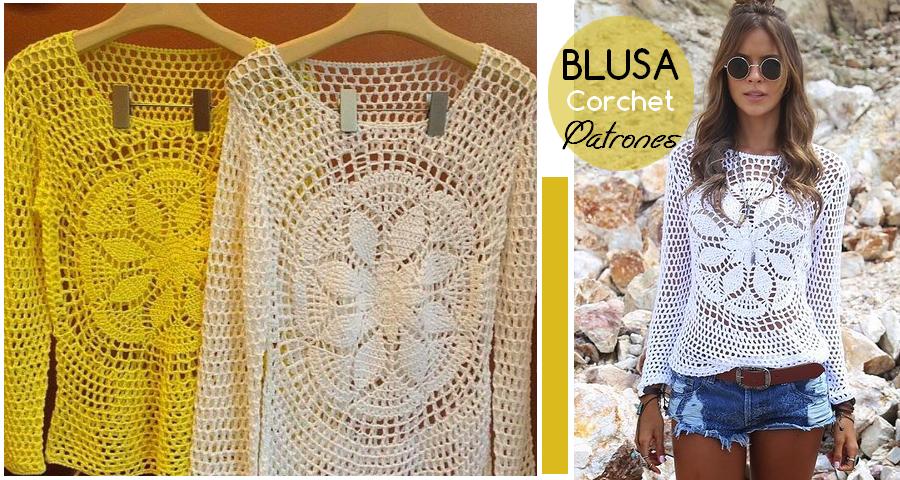 Patrones para aprender a hacer esta preciosa blusa tejida a crochet ...