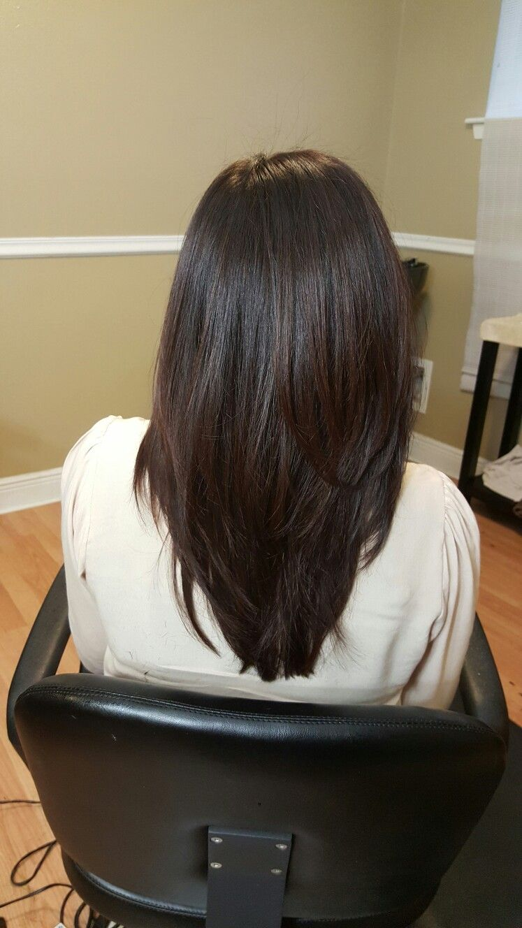 Haircut Style Long Layers Layered Straight Blow Out Smoothing Iron Hair Style Hairstyle H Long Hair Styles Hair Styles Long Straight Hair
