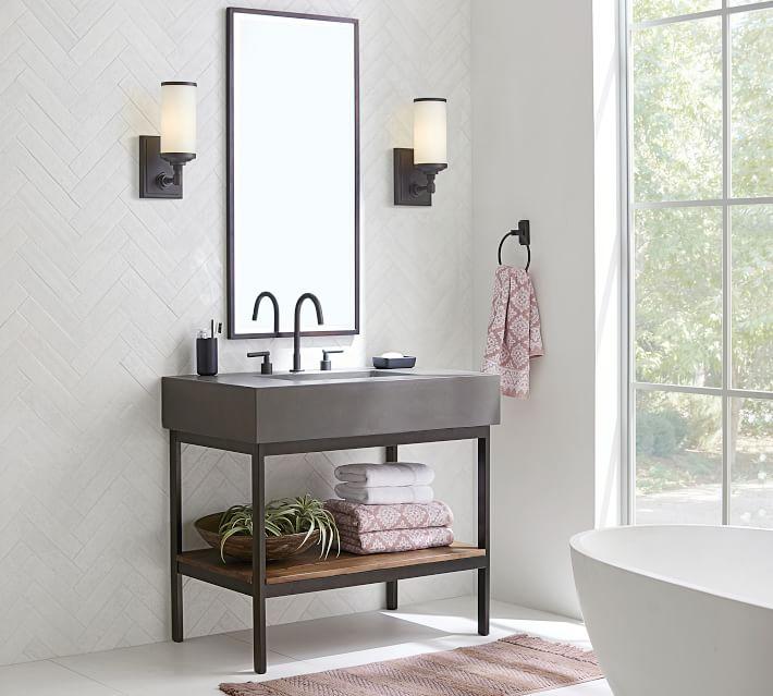 Frances 36 Concrete Top Single Sink Vanity In 2020 Single Sink Vanity Vanity Sink Single Sink