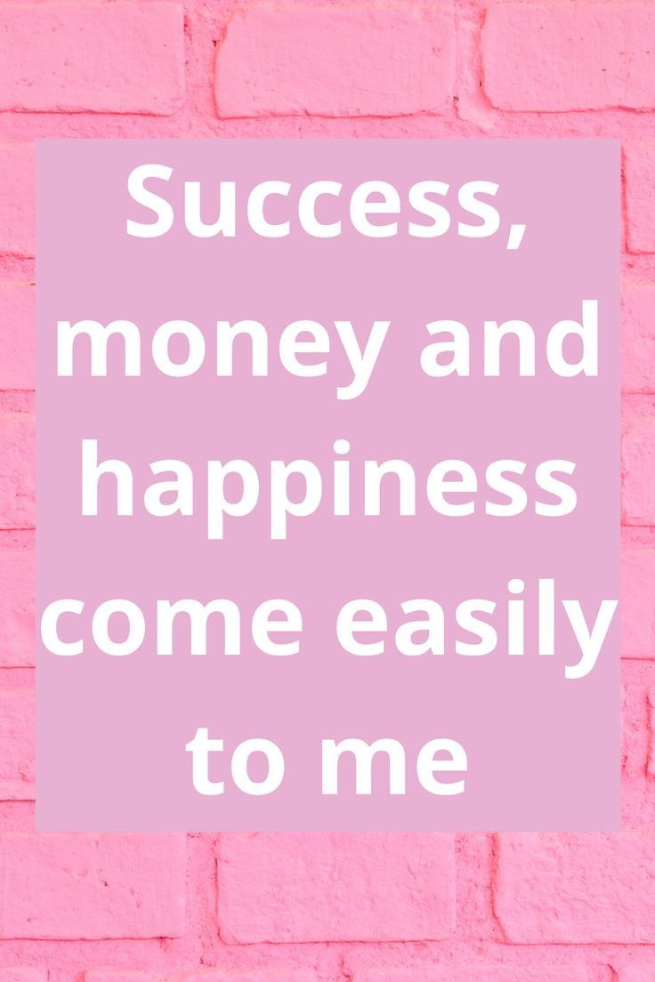 Success, money and happiness come easily - This is just one of the affirmations from the blog post 21+ Empowering Affirmations For Business Success.