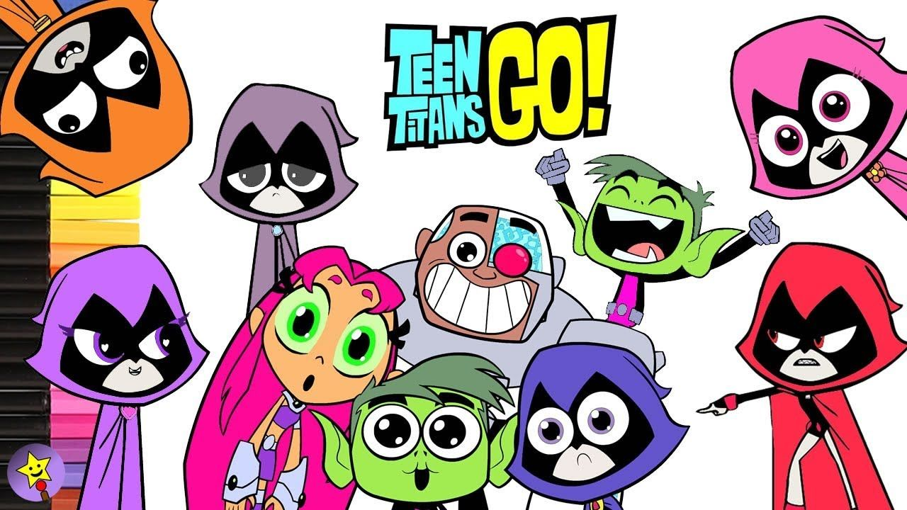 Teen Titans Go! coloring book pages compilation Raven coloring book ...