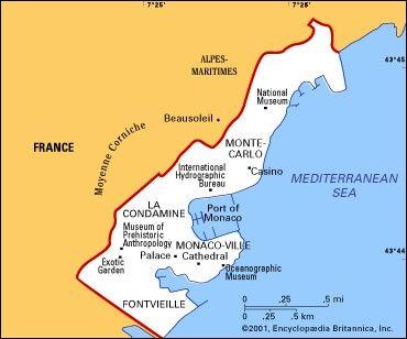 Map Of Monaco Monaco