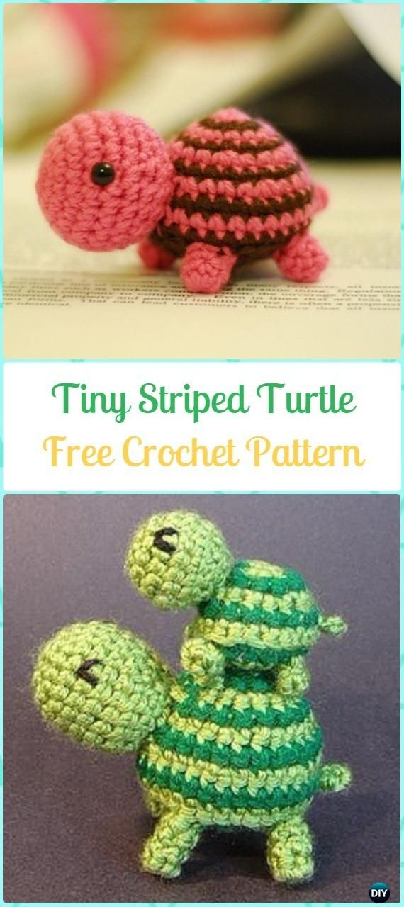 Crochet Turtle Amigurumi Toy Softies Free Patterns #crochetturtles