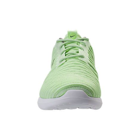 5ef62c5cbe10 Young Big Boys Nike Roshe Two Flyknit Casual Shoes Vapor Green Dust White  844929301