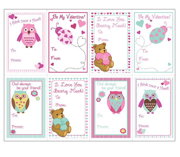 Share the Love MS Office Templates and Printables for Valentines Day – Cute Kids Valentines Cards