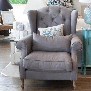 Merveilleux Emerson Wingback Chair Grey Linen