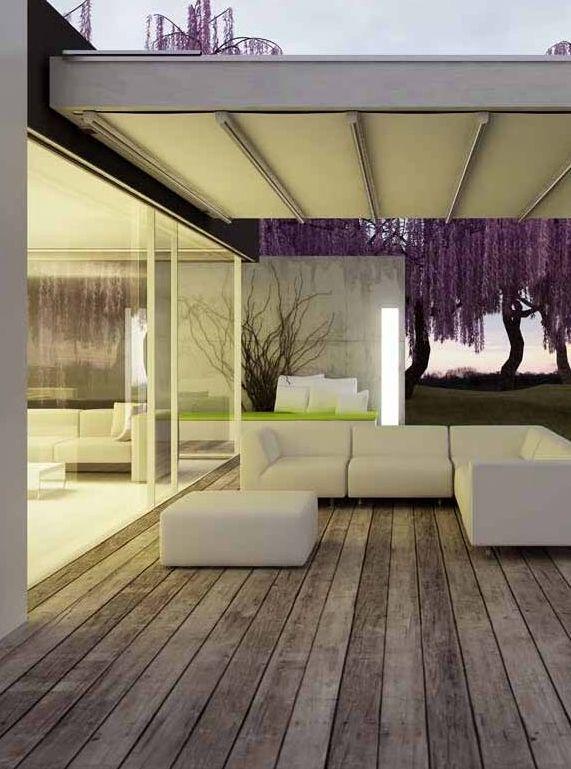 C mo reparar un toldo de brazos articulados jardin - Toldos para patios interiores ...