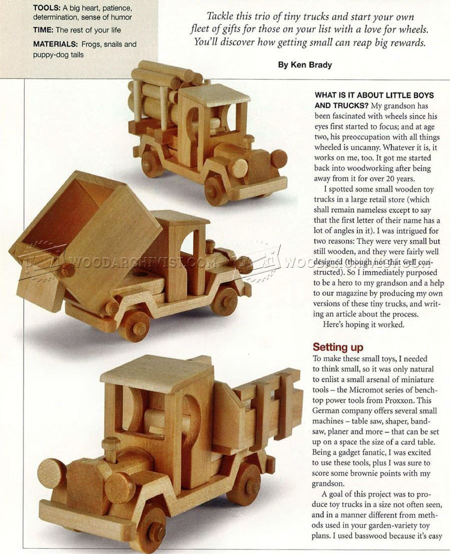 wooden toy truck plans - wooden toy plans | woodworking