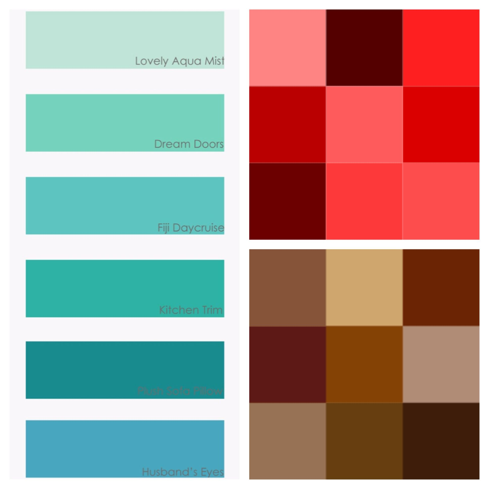 Turquoise Red And Tan Color Scheme For House I Just Like The Tans