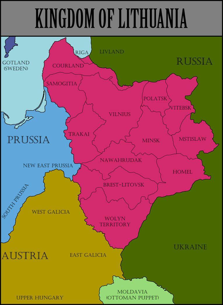 Kingdom Of Lithuania 1817 By Theprussianrussian Storia Moldavia