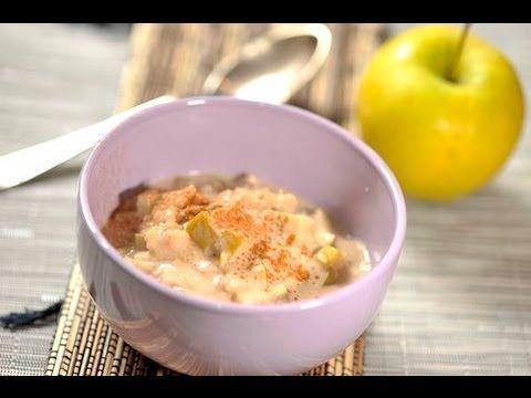 Avena con leche de almendras y manzana al estilo de Sonia Ortiz por Cocina al natural