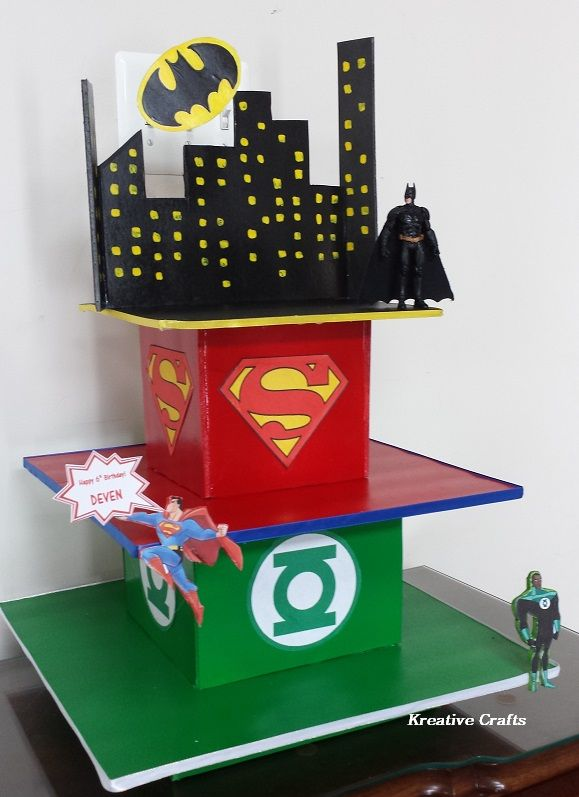 DC Comics Cake Birthday Party Cupcakes By Kreative Crafts