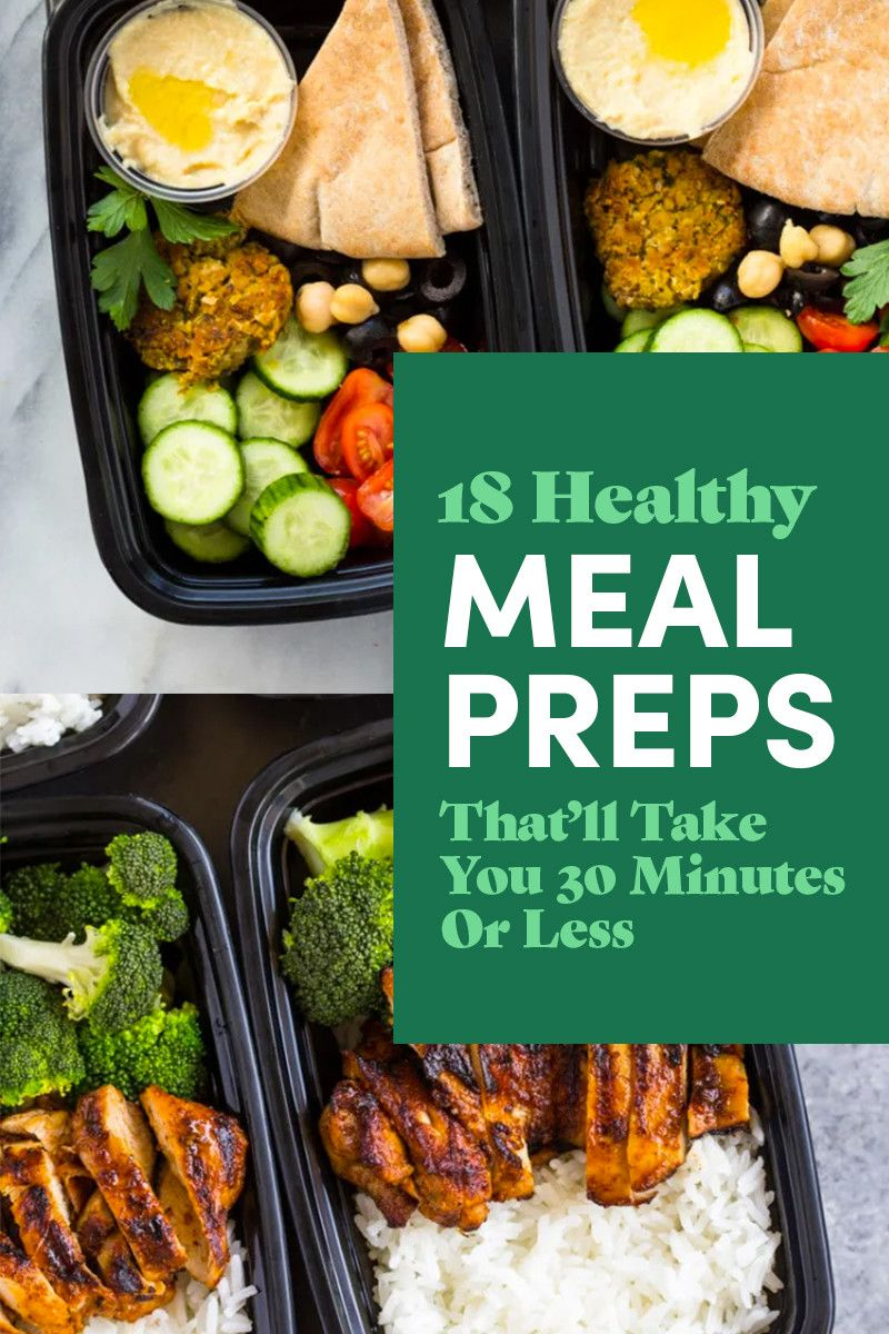 18 Healthy Meal Preps That'll Take You 30 Minutes Or Less #crockpotmealprep