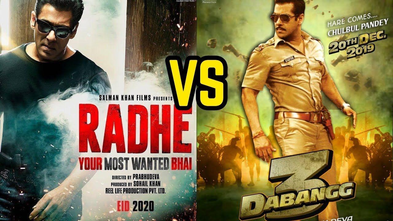 Radhe Vs Dabangg 3 Salman Khan Upcoming Big Action Movie 2020 Action Movies Upcoming Movies 2020 Bollywood Actors