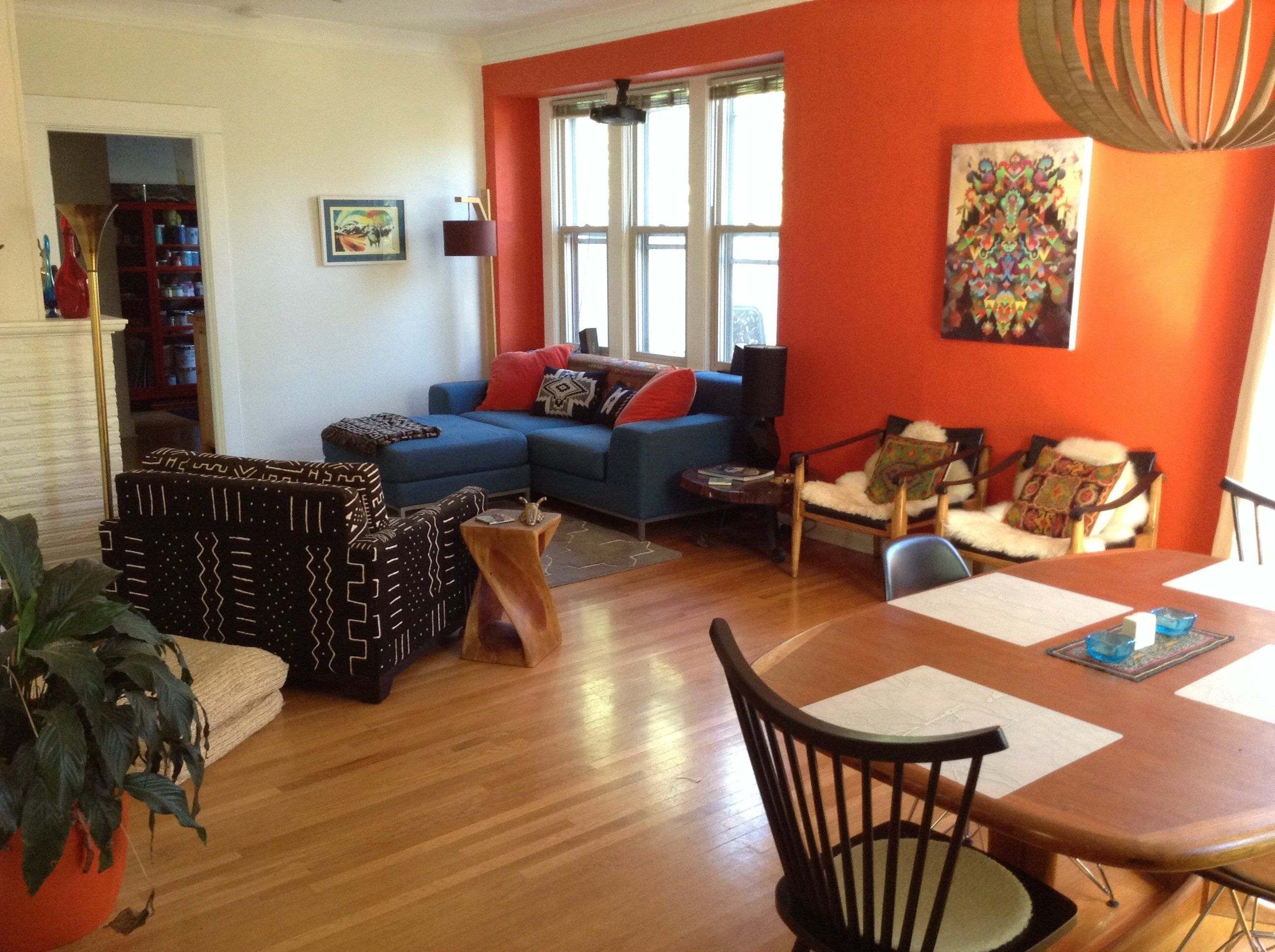 Paint Colors That Match This Apartment Therapy Photo SW 6883 Raucous Orange 6253