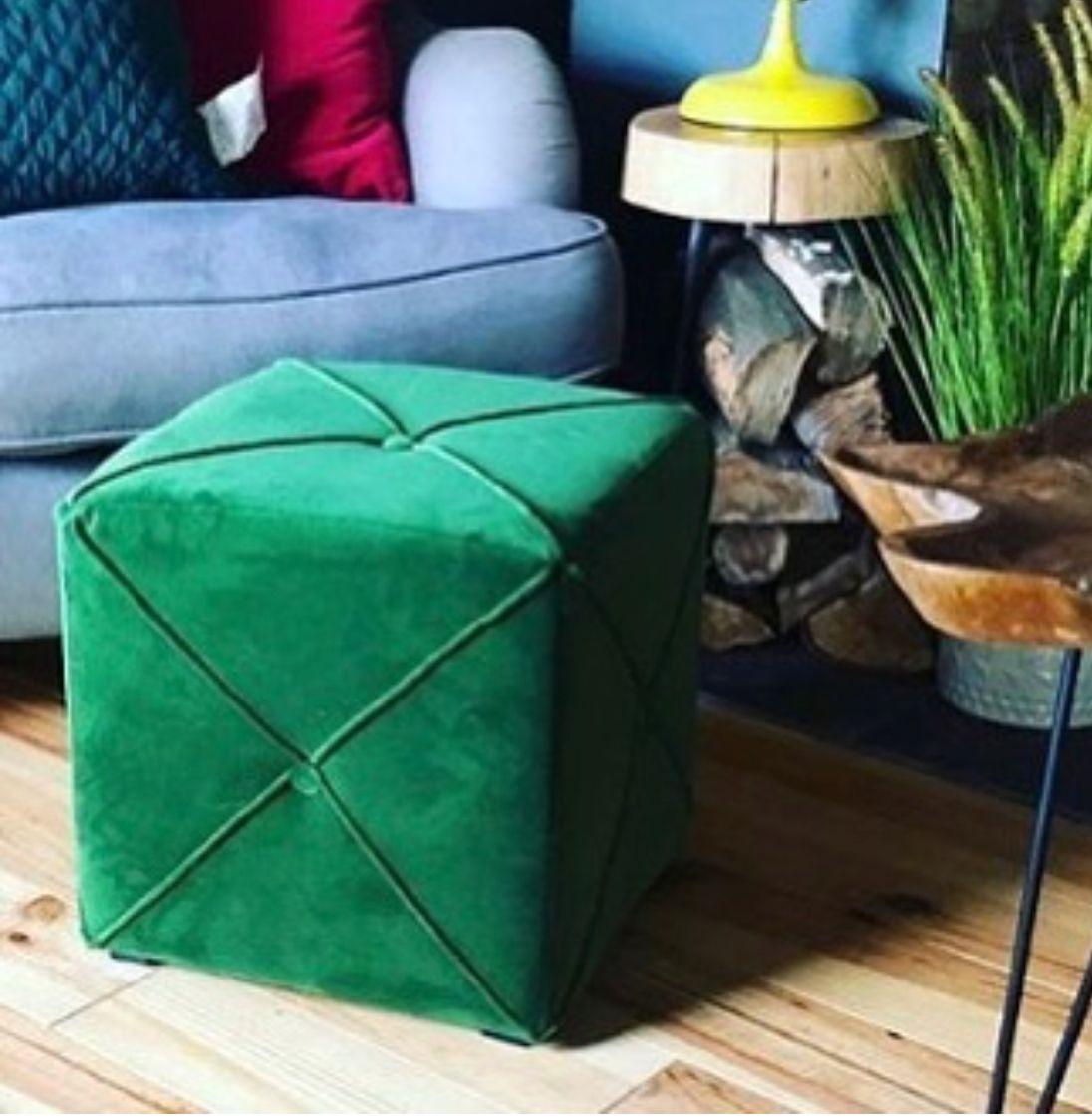 Green Velvet Pouf From Homesense Furniture Homesense