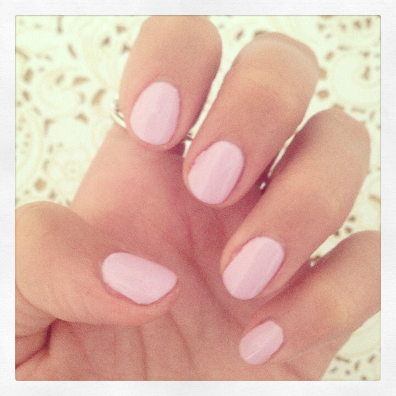Baby pink Shellac nails.   Expensive Nails   Pinterest