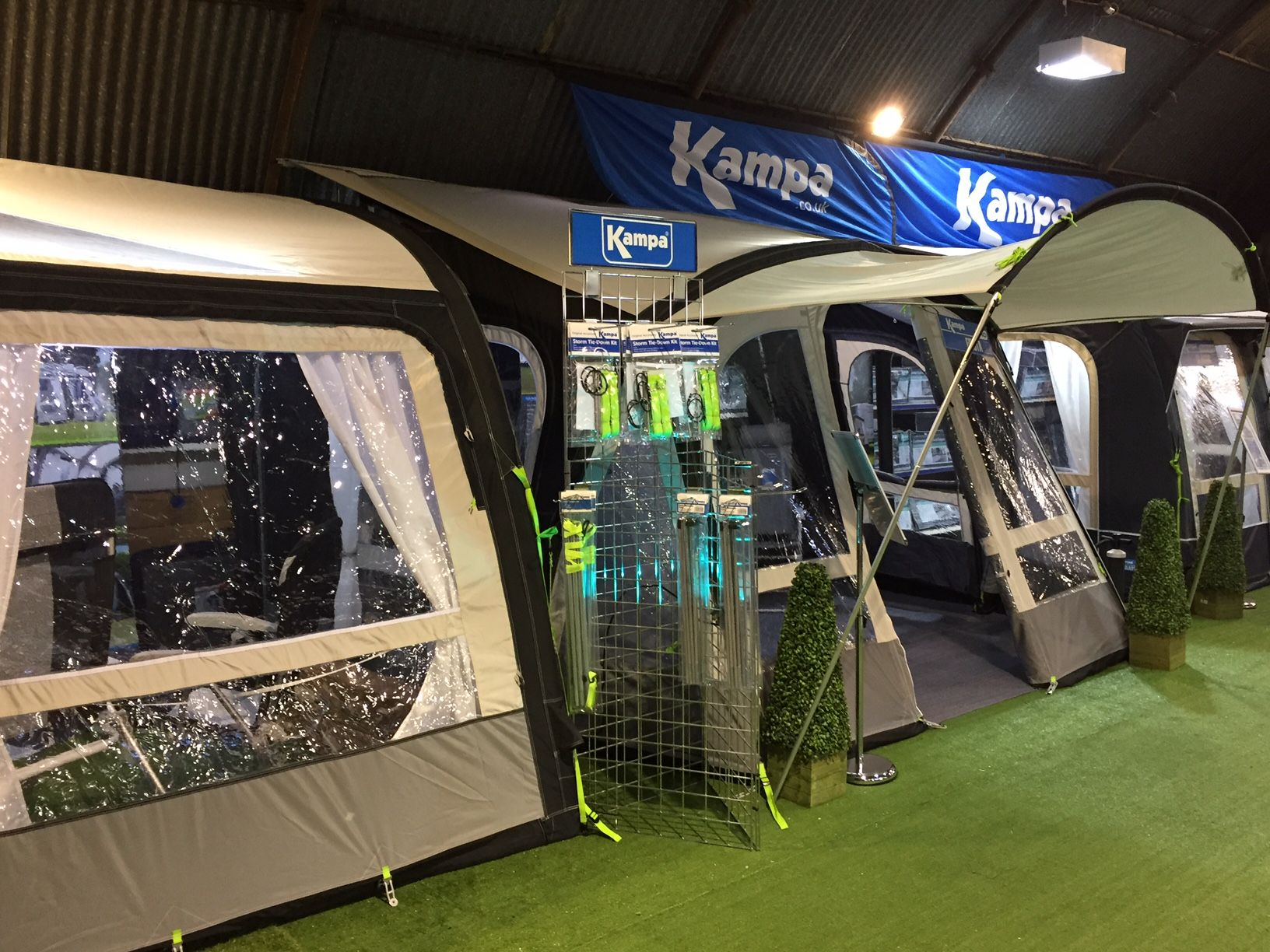 Superb Kampa Awnings In Our Tamworth Showroom Camping Shop Showroom Tent