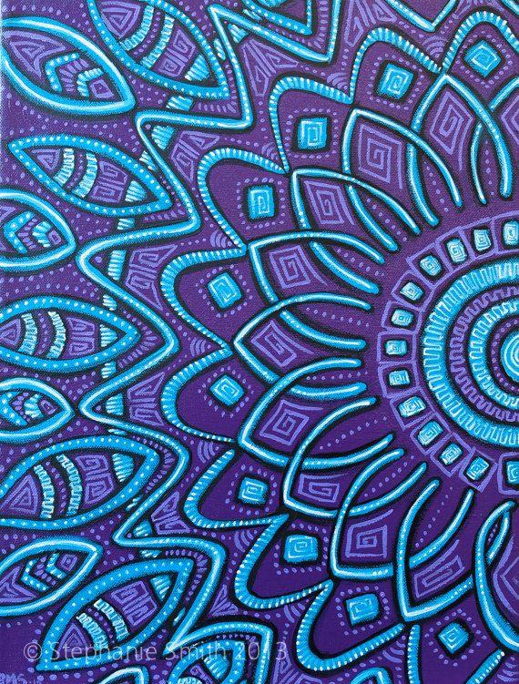 original mandala purple art painting expansion by. Black Bedroom Furniture Sets. Home Design Ideas