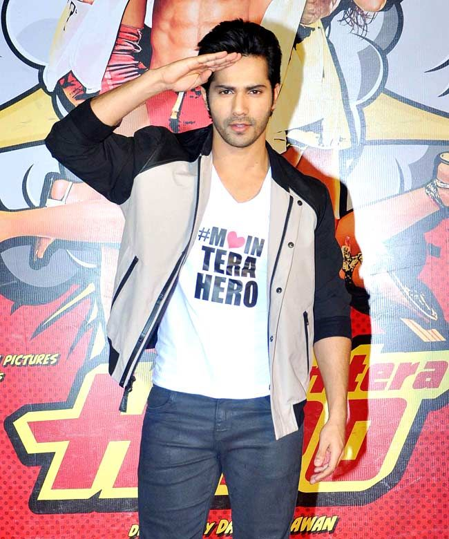 Varun Dhawan At The Trailer Launch Of Main Tera Hero Style Bollywood Fashion Handsome With Images Varun Dhawan Varun Alia Bhatt Varun Dhawan