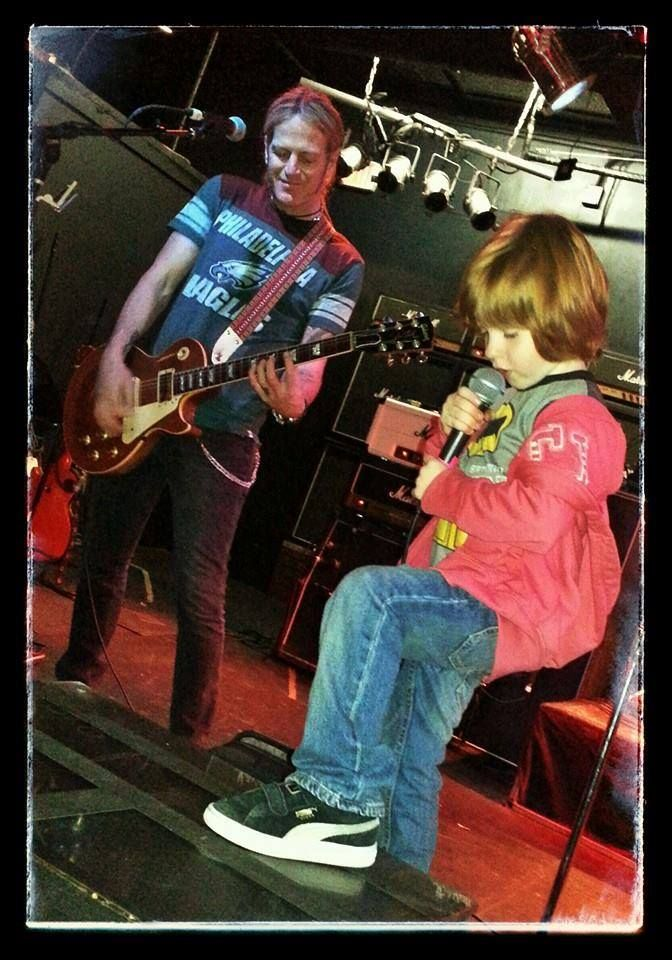 Here's a lil pic of Ryder testing the mic with his amazing father