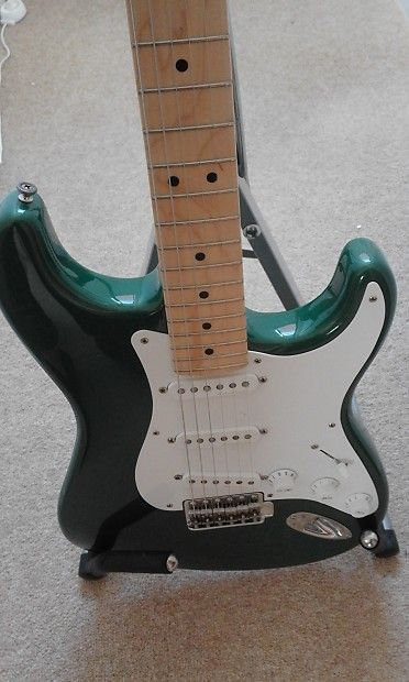 1990 Fender USA Eric Clapton Stratocaster Strat Candy Green Guitar w ...