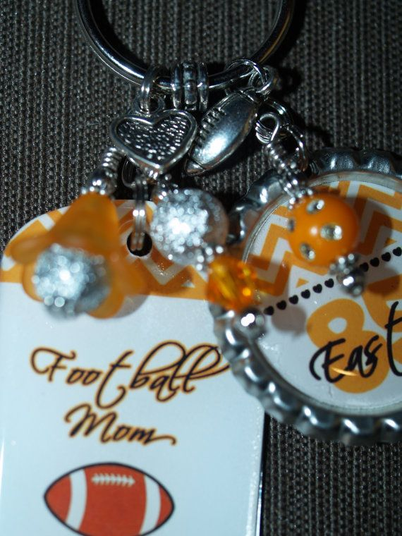 Personalized MOM Gift Football Key Chain Sports by pixelilicious d20e2debc5