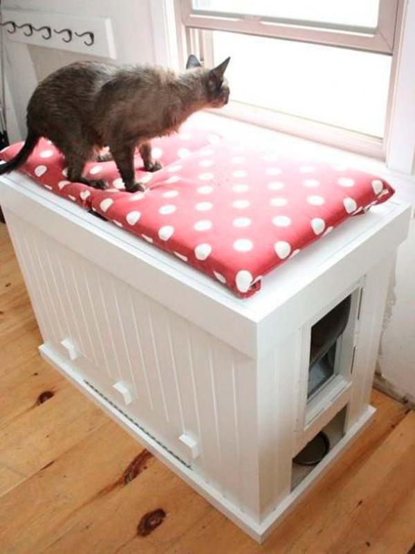 8 Ideas Para Camuflar El Arenero Del Gato Muebles Para Gato