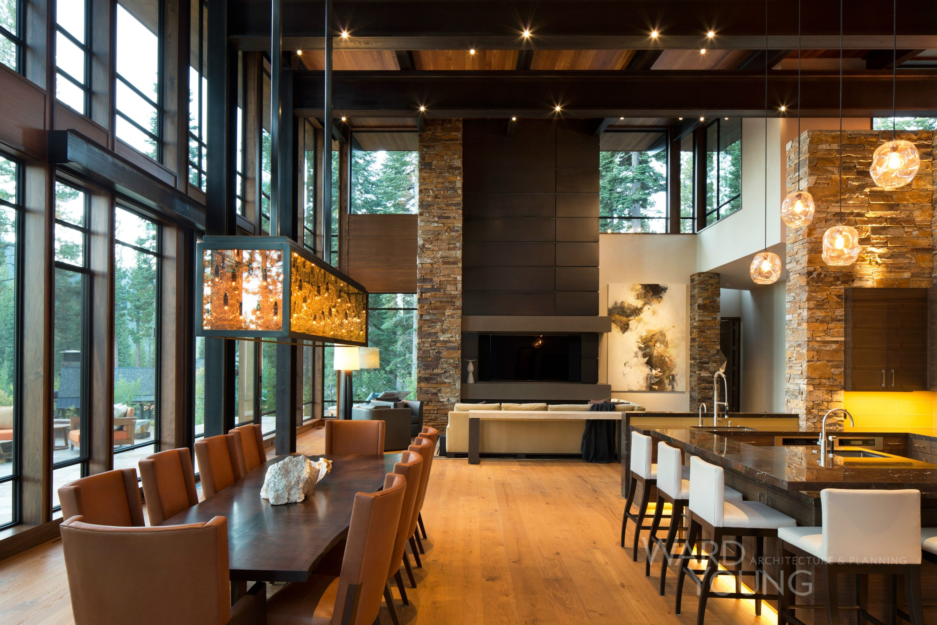 Possible Layout For Great Room Mountain Home Interiors Modern House Design Modern House