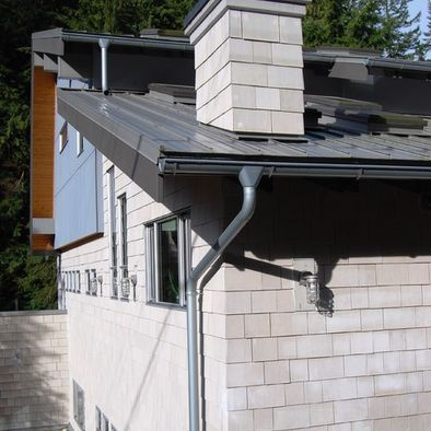 Round Galvanized Gutters Letterhead Design Pictures Remodel Decor And Ideas Galvanized Gutters Gutters Siding Styles