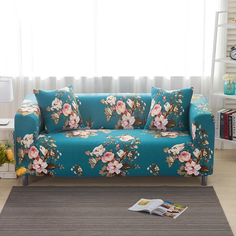 Sofa Covers Elastic Spandex Flowers Printed Sofa Covers Slipcovers