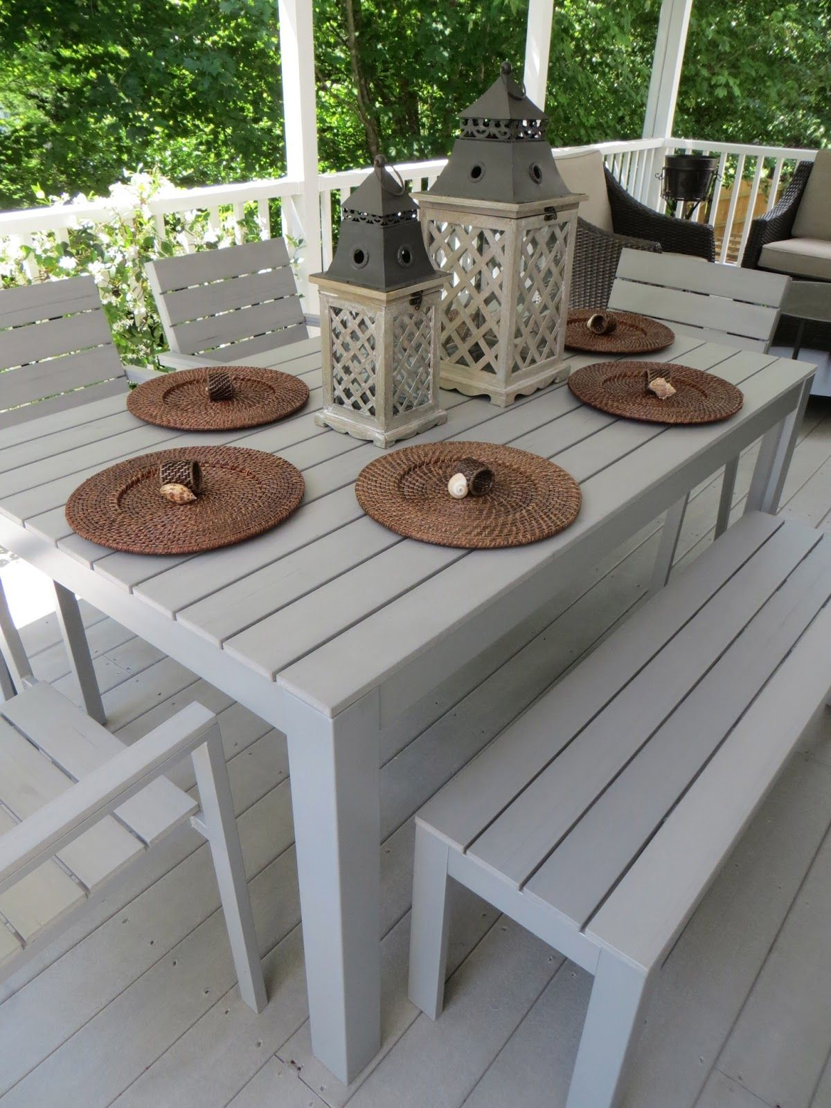 Simply LKJ: Back Porch-Bones~  Outdoor dining set, Ikea patio