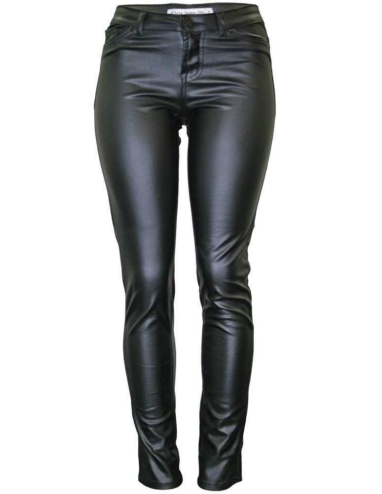 Cielo Womens Super Trendy Faux Skinny Pants
