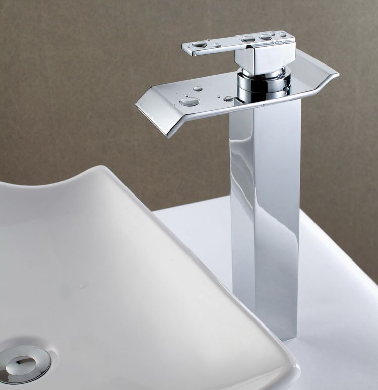 Wholesale And Retail Chrome Finish Waterfall Faucet Bathroom Basin ...