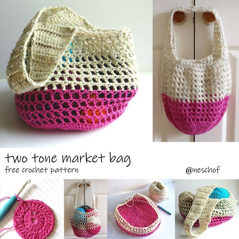 crochet_market_bag_neschof | Crochet Patterns | Pinterest