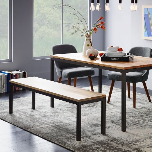 Box Frame Dining Bench Dining Room Table Wood Dining Table
