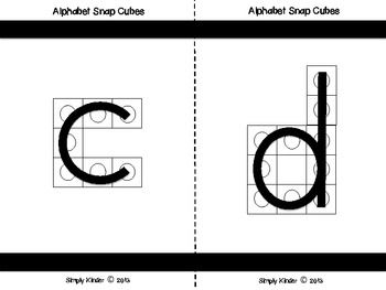Alphabet Activities Alphabet Snap Block Center  Alphabet Cube