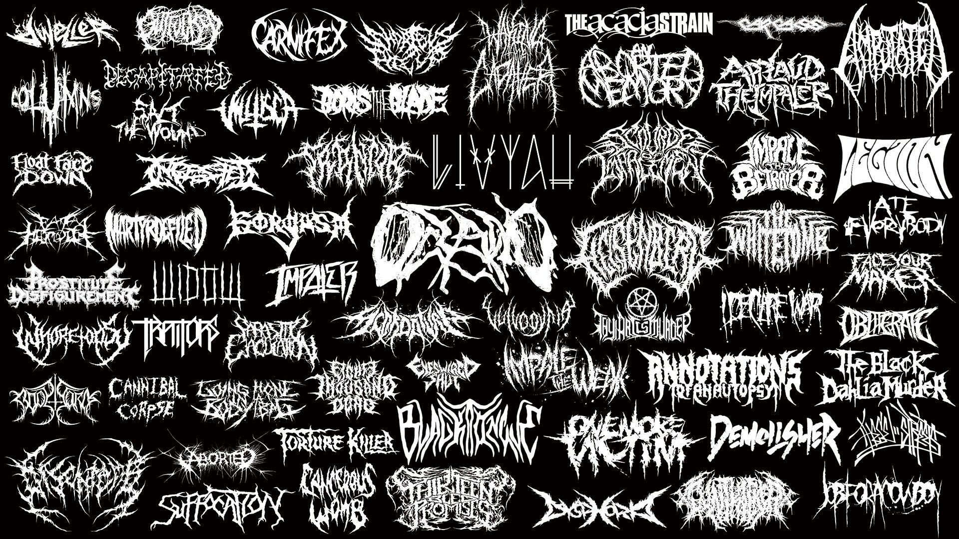 Heavy Metal Band Logosymbol Collage Logossymbols Pinterest