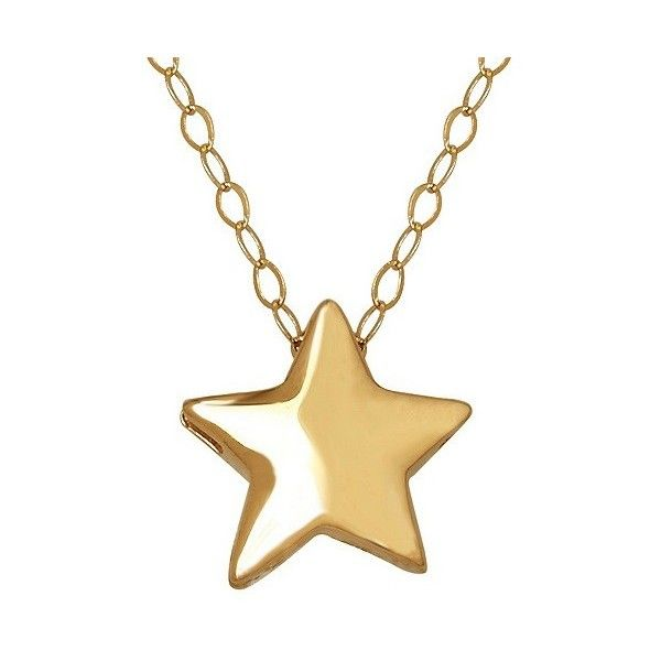 Women's Star Necklace in  Yellow Gold ($105) ❤ liked on Polyvore featuring jewelry, necklaces, yellow, yellow necklace, gold anklet, yellow gold anklet, gold necklace and anklet gold jewellery