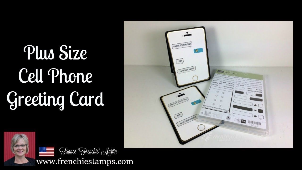 Cell Phone Greeting Card YouTube Card tutorial