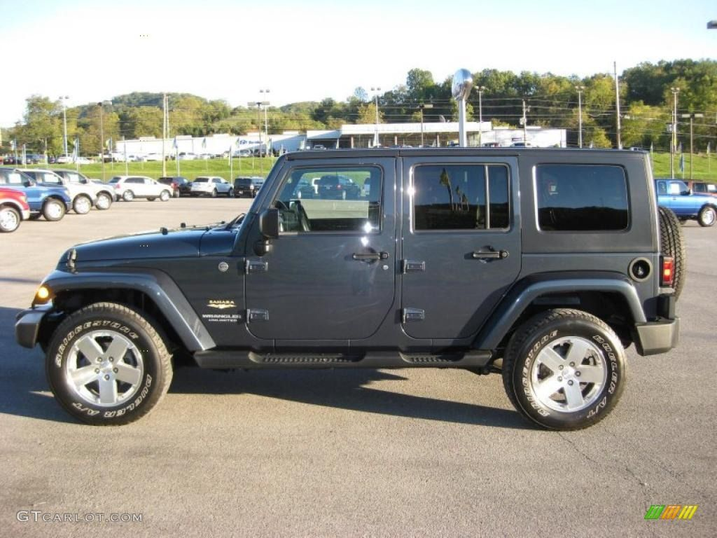 2008 Wrangler Unlimited Sahara 4x4 Steel Blue Metallic Dark Slate Gray Med Slate Gray Photo 1 Blue Jeep Blue Jeep Wrangler Jeep Wrangler